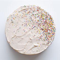 ~ Ombre Vanilla Buttercream Cake with Lemon Syrop ~