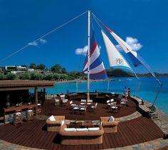 #Lounges : #Sail-in bar at #EloundaBayPalace #lounges #elounda, #bar #crete