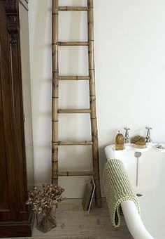 1000 images about storage ideas on pinterest decorative - Echelle decorative salle de bain ...