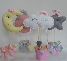 Baby Shower Balloons, Baby Shower Themes, Foam Crafts, Diy And Crafts, Rain Baby Showers, Cloud Party, Diy Ribbon, Sewing Toys, 1st Birthday Parties