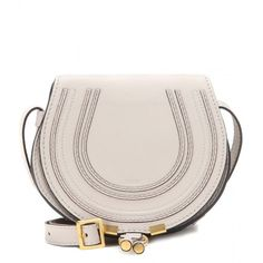 Chloé Marcie Small Leather Shoulder Bag (4,265 CNY) ❤ liked on Polyvore featuring bags, handbags, shoulder bags, grey, grey shoulder bag, grey purse, gray shoulder bag, leather handbags and chloe shoulder bag