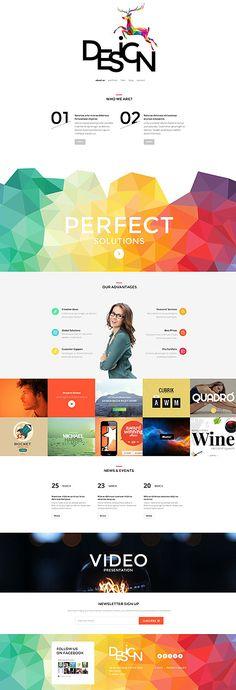 Website Design #WordPress Template wordpress website template