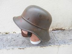 WW2 GERMAN CIVIL AIR DEFENSE (LUFTSCHUTZ) HELMET - USED. | eBay