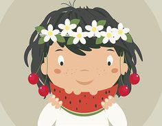 Summer Girls, New Work, Adobe Illustrator, Behance, Clip Art, Digital, Illustration, Check, Anime