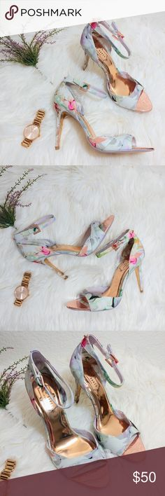 66ff62eb645 Ted Baker Ankle Strap Caleno Hanging Gardens Heels Brand: Ted Baker Size:  Women 8