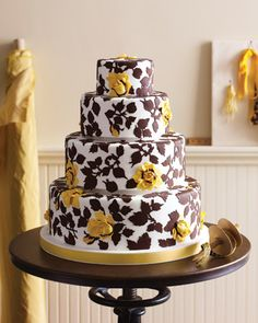 vintage fabric wedding cake!
