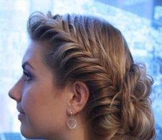 Peinado con trenza espiga ~ cositasconmesh