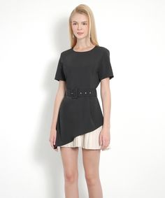 Privé Pleat Dress (Black) - Backorder | Her Velvet Vase Short Sleeve Dresses, Dresses With Sleeves, Skater Dress, Dress Black, Dress Outfits, Dresses For Work, Velvet, Vase, Fashion