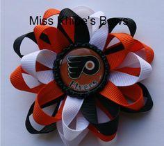 Philadelphia Flyers INSPIRED Bow and Headband