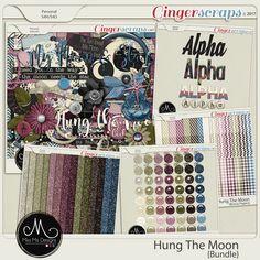 Hung The Moon - Bundle by Miss Mis Designs Digital Scrapbooking, Moon, Creative, Design, The Moon, Design Comics