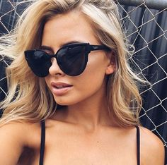 05879a93d7b Quay Australia Game On Black   Smoke Cat Eye Dark Sunnies Sunglasses