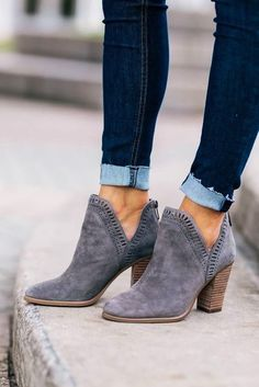 Ankle boots designed for women are quite stylish and convenient compared to high boots. Stilettos, Pumps, Women's Heels, Gray Heels, High Heels, Suede Heels, Black Shoes, Me Too Shoes, Black Heels