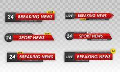 Tv news bar. television broadcast media ... | Premium Vector #Freepik #vector #template #sport #tv #flat Radio Channels, News Channels, 20 Tv, Flat Tv, Live Television, Live Breaking News, Lower Thirds, Futuristic Background, New Backgrounds