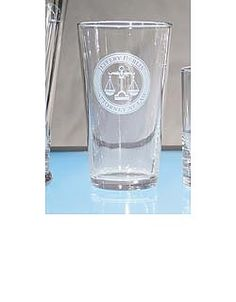 Personalized 16 oz. water/highball glasses for lawyers, paralegals, doctors, veterinarians, teachers, golfers, stock brokers, and real estate agents.  Set of two - $45.  Also available in sets of 6.