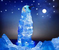 Pingvin dekorationsbelysning med 32 LED-lampor. Julbelysning för utomhusbruk (IP44). 3501926