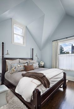 Transitional Bedroom by Tom Stringer Design Partners