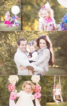 family photography, 2 year old photography, whimsical photography, baby in swing, girl photography, family pictures, outdoor pictures