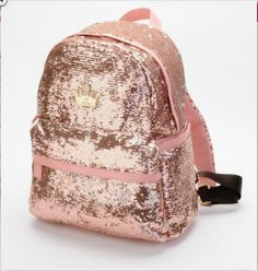 Fashion pink Shiny Unique Backpack Bag at HelloShoppers