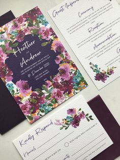 Pretty, pretty, pretty comes to mind! A versatile design, that will set a beautiful and elegant theme for your wedding. Featuring stunning watercolour floral detailing with a rich, warm and vibrant colour palette, we love this design and we feel you and your guests will too. Wedding Invitation Design, Wedding Stationery, Floral Watercolor, Watercolour, Place Names, Digital Marketing Services, Stationery Design, Save The Date, Getting Married