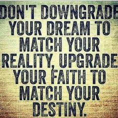 Upgrade your faith