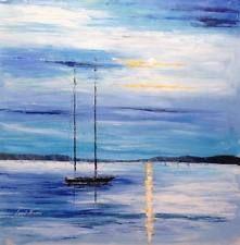 Leonid Afremov ORIGINAL, CERTIFICATE  oil canvas  signed, Wonderful seascape