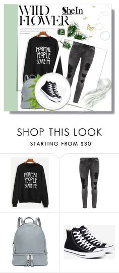 """""""Shein"""" by samraxy ❤ liked on Polyvore featuring Zizzi, MICHAEL Michael Kors and Converse"""