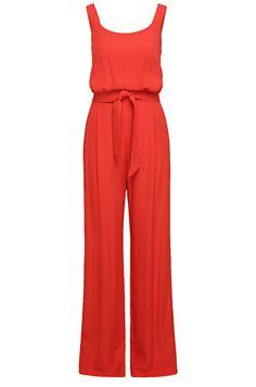 Jumpsuit mit Träger-Top aus fließendem Material-Mix mit Viskose: ´Akily`  Rot von BOSS Orange für Damen für 299,00 € im offiziellen HUGO BOSS Online Store versandkostenfrei bestellen!
