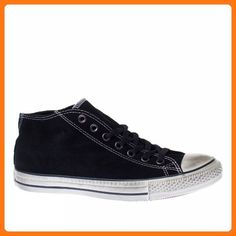 buy popular b7841 8aaae Amazon.com Converse Trainers Uomo Donna All Star Clean Mid Suede Black 5  US Shoes