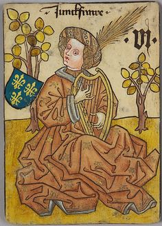 6 (Lady-in-Waiting) of France, from The Courtly Household Cards. Date: ca. 1450. Made in Upper Rhineland, Germany