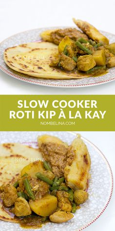 Slow cooker roti kip. #recept #masala #slowcooker Slow Cooker Chicken Healthy, Healthy Crockpot Recipes, Slow Cooker Recipes, Chicken Roti, Happy Foods, Healthy Meals For Two, Slow Food, Pasta, Food Inspiration