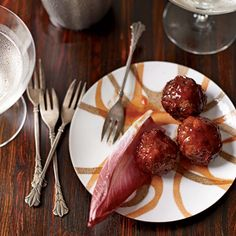 According to Southern tradition, the hostess at a ladies' luncheon should serve little meatballs in a chafing dish or on a platter with toothpicks as a satisfying snack for any men in attendance.