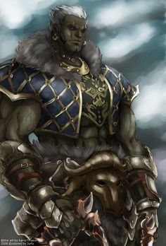 Lineage II - Orc Tyrant by jubaka on deviantart Fantasy Character Design, Character Concept, Character Inspiration, Character Art, Dungeons And Dragons Characters, Dnd Characters, Fantasy Characters, Fantasy Races, Fantasy Warrior
