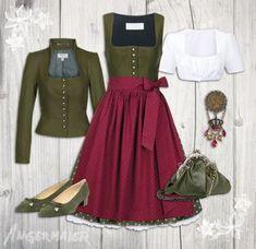 I want to make a jacket like first. Ein schönes, klassisches Outfit: Dirndl Pillersee, Trachtenjanker Salzburg, Dirndlbluse Herlinde #Angermaier