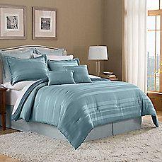 image of Duet 8-Piece Comforter Set in Sea Blue