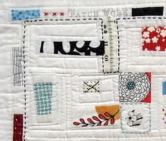 Close up of Quilt Entry # 27 for My Favorite Little Quilt Swap   Flickr - Photo Sharing!