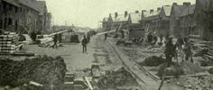 A street being constructed for Woolwich Arsenal workers