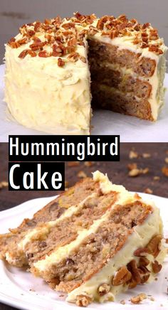 hummingbird dessert recipes cake Hummingbird Cake Dessert Cake RecipesYou can find Unique cake recipes and more on our website Hummingbird Cake Recipes, Hummingbird Food, Pavlova, Cinnamon Cake, Dessert Cake Recipes, Summer Cake Recipes, Almond Cakes, Savoury Cake, Cookies Et Biscuits