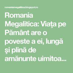 """Romania Megalitica: Viaţa pe Pământ are o poveste a ei, lungă şi plină de amănunte uimitoare, uneori de neprevăzut... Trecerea de la un 'regn' la altul se face pe 'acordul extra fin' si ascunde enigme... inca de nepatruns. De ce """"România, Grădina Maicii Domnului""""? Urmeaza! Romania, Math Equations"""