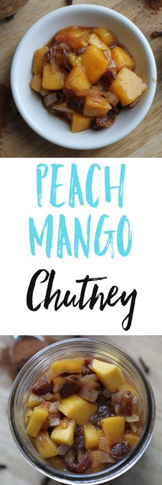 This Peach Mango Chutney is the perfect sweet and savory side dish for your curries, sandwiches, appetizers, or samosas. via @euphorianutr