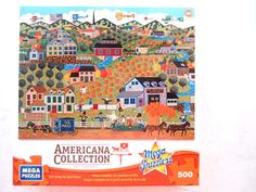 "500 pc jigsaw puzzle, ""Noah's Pumpkin Farm"" 13"" x 19"" Americana Collection in Toys & Hobbies, Puzzles, Contemporary Puzzles 