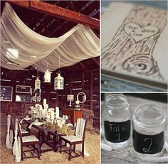 Oodles of handmade rustic wedding ideas. Just lovely!