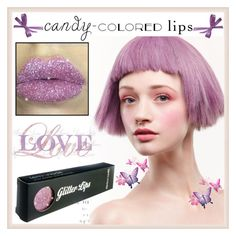 """""""So Sweet: Candy-Colored Lips"""" by yours-styling-best-friend ❤ liked on Polyvore featuring beauty, BeautyTrend, love, pastel, pastels and candylips"""