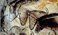 30,000-years-old stone-age cave paintings found at Chauvet, Fr.