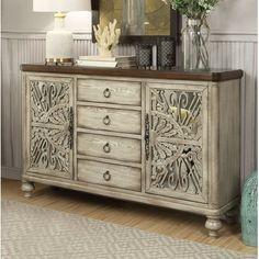 Vermont Console Table Acme Furniture in Accent Chests and Cabinets. The Vermont Console Table by Acme Furniture would add elegance to any room. Shabby Chic Kitchen, Shabby Chic Homes, Shabby Chic Decor, Acme Furniture, Painted Furniture, Furniture Design, Orange Furniture, Unusual Furniture, Furniture Update