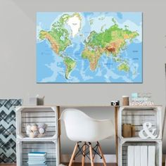 Photo Vintage, Deco Originale, Decoration, Map, Design, Dormitory, Worldmap, Photo Galleries, Child Room