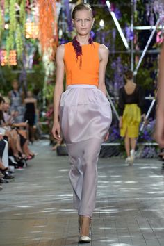 #orange sheath top Christian #Dior Spring 2014 Ready-to-Wear Collection Slideshow on Style.com