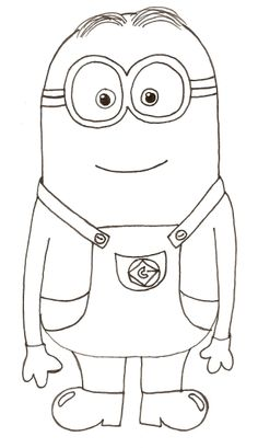 how to draw a minion kevin