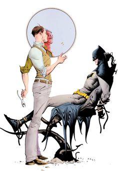"sevenheadstencrowns: ""Batman vs. Two-Face by Jae Lee """