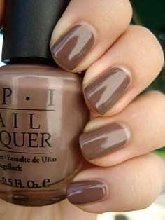 OPI over the taupe ~ I like this color! Not quite as dark as the other browns I've been seeing.