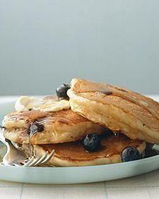 the BEST blueberry buttermilk flapjacks #brunch